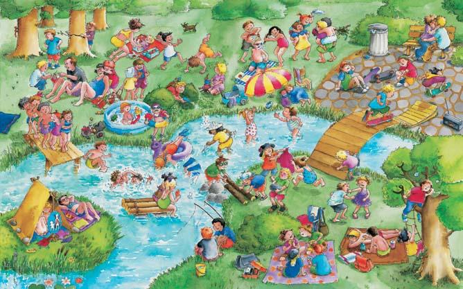 """Park, Wimmelbuch """"so viele Kinder"""", Zartbitter-Verlag"""