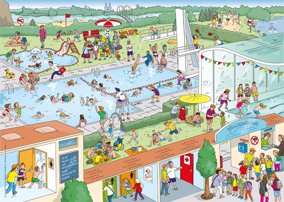 Leitfaden für Schwimmkurse zum Thema Achtsamkeit. LVR, DLRG u.a.